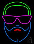 Man Face Neon Sign