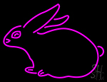 Pink Rabbit Neon Sign