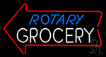 Rotary Grocery Neon Sign