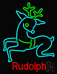 Rudolph Neon Sign