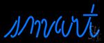 Smart Blue Neon Sign