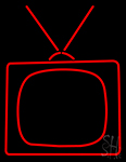 Television Neon Sign