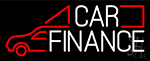 White Car Finance Neon Sign