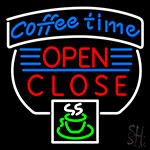 Coffee Time Open Close Neon Sign