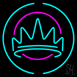 Crown With Round Logo Neon Sign