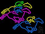Racing Horses Neon Sign