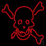 Skull Bones Neon Sign