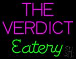 The Verdict Eatery Neon Sign