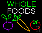 Whole Foods Veggies Neon Sign