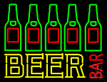 Beer Bar Bottle Neon Sign