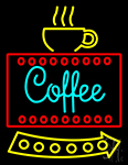 Coffee Sign With Cup Neon Sign