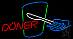 Doner With Logo Neon Sign