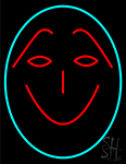 Funny Face Smile Neon Sign