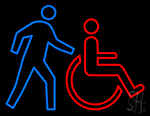 Handicapped Man Life Series Neon Sign