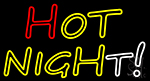 Hot Night Multicolor Neon Sign
