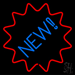 New With Red Border Neon Sign