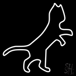 White Cat Logo Neon Sign
