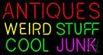 Antiques Weird Stuff Cool Junk Neon Sign