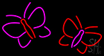 Butterflies Logo Neon Sign