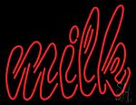 Double Stroke Milk Neon Sign