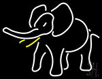 Elephant Logo Neon Sign