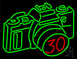 Gigantic Camera Neon Sign