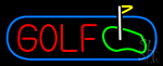 Golf With Ground Neon Sign