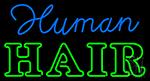 Human Hair Neon Sign