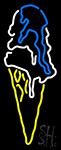 Ice Creme Logo Neon Sign