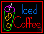 Iced Coffee Neon Sign