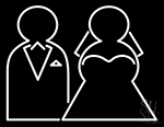 Marriage Clipart Neon Sign