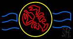 Red Lobster With Circle Neon Sign