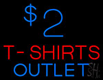 2 T Shirt Outlet Neon Sign