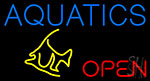 Aquatics Open Fish Neon Sign