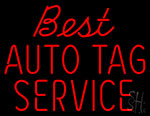 Best Auto Tag Service Neon Sign