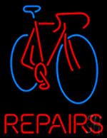 Bicycle Repairs Neon Sign