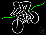 Bicycle Rider With Bicycle Neon Sign