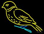 Birds Logo Neon Sign