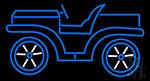 Blue Car Logo Neon Sign