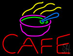 Cafe With Chinese Bowl Neon Sign