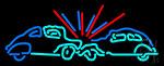 Car Crash Sign Neon Sign