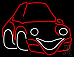 Cars Red Logo With Eyes And Smile Neon Sign