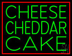 Cheese Cheddar Cake Neon Sign