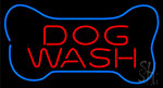Dog Wash With Bone Neon Sign