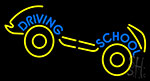 Driving School With Car Neon Sign