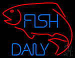 Fish Daily With Red Fish Neon Sign