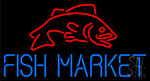 Fish Market With Red Fish Neon Sign