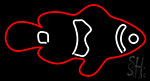Fish Red Logo Neon Sign