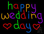 Happy Wedding Day Neon Sign