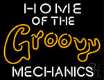 Home Of The Mechanics Neon Sign